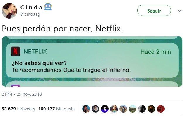 Netflix está en esos días...