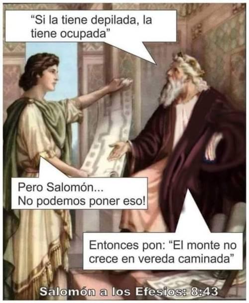 Salomón sabe
