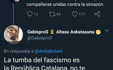 La tumba del fascismo es bocadillo de choped