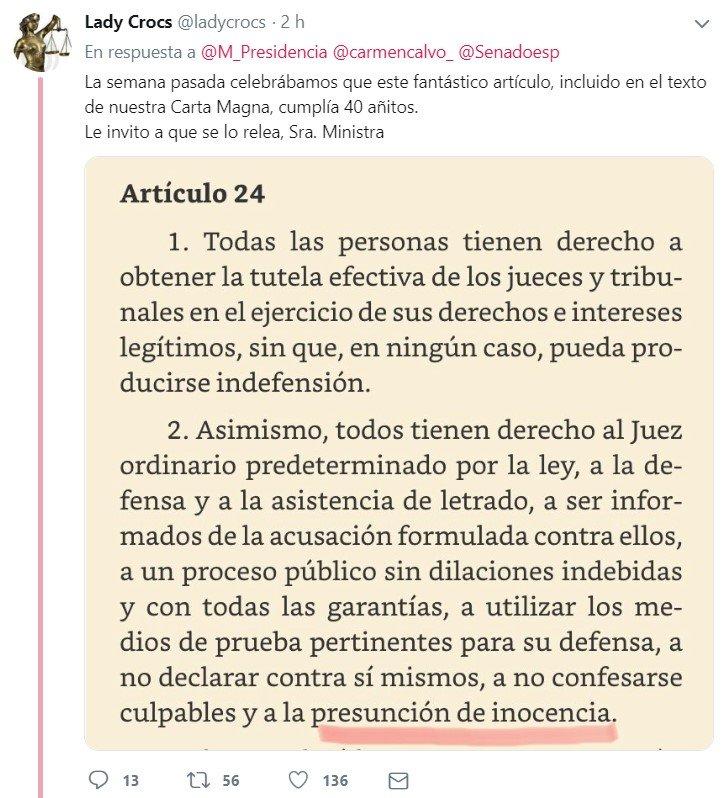 """""""Las mujeres tienen que ser creídas SÍ o SÍ"""" - Carmen Calvo, Vicepresidenta del Gobierno"""