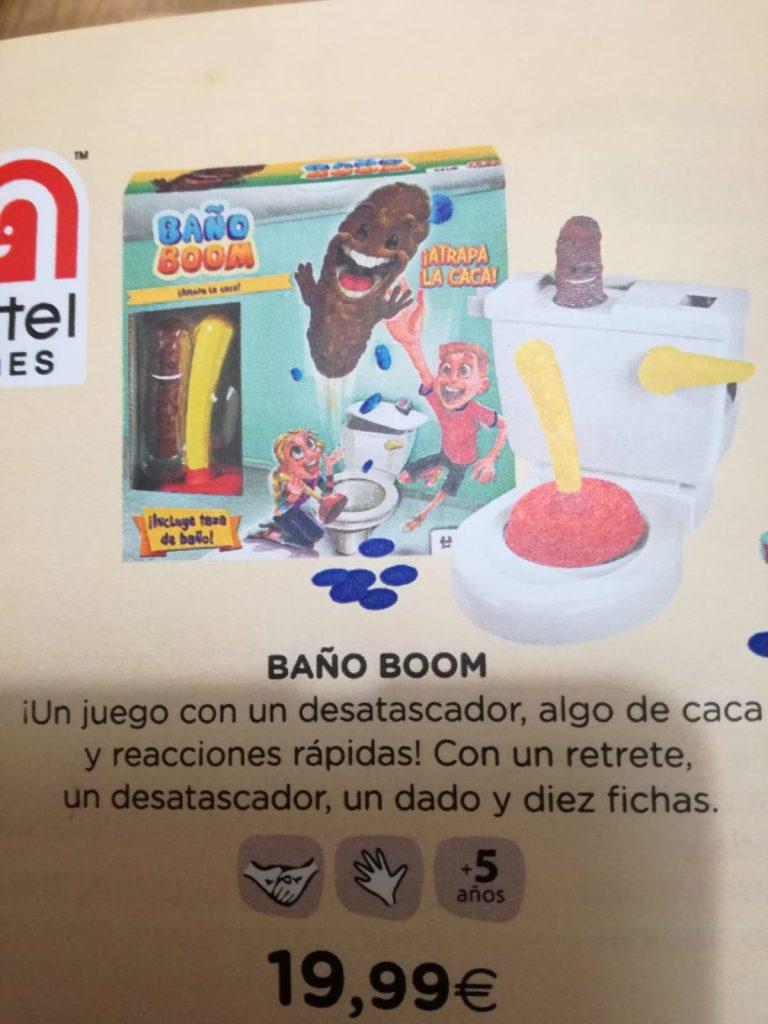 BAÑO BOOM, ¡atrapa la caca!: Un juguete atroz y repugnante que le encantará a tu sobrino