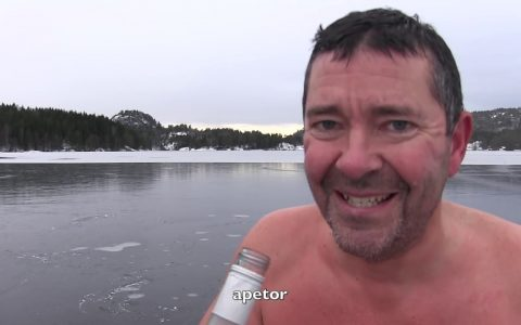 Apetor sobre hielo fino