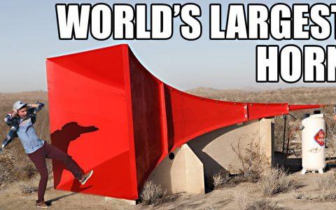 Construyendo la bocina más grande del mundo
