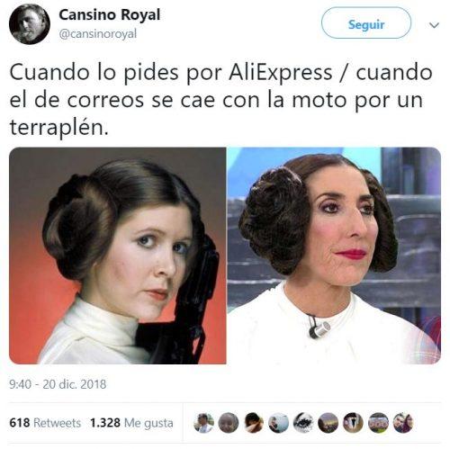 Leia y su doble de acción