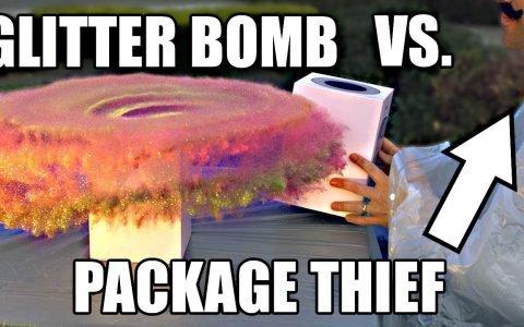 Ingeniero de la NASA cansado de que le manguen los paquetes, crea un paquete trampa con bomba de purpurina para trolearles