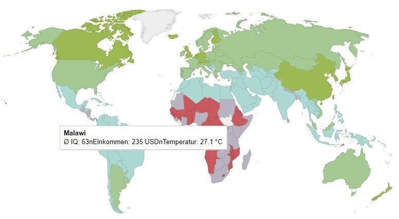 Cociente intelectual medio por países