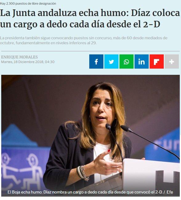 ¿Susana Díaz enchufando gente en la Junta de Andalucía? Nunca lo habría imaginado...