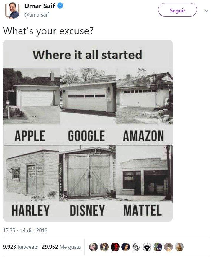¿Cuál es tu excusa?
