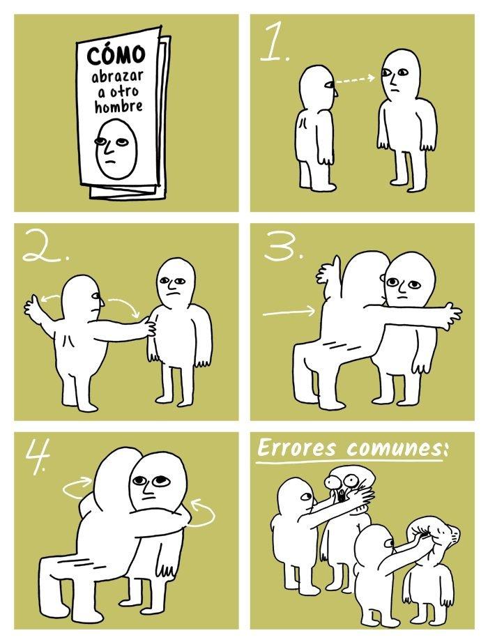 Cómo abrazar a otro hombre