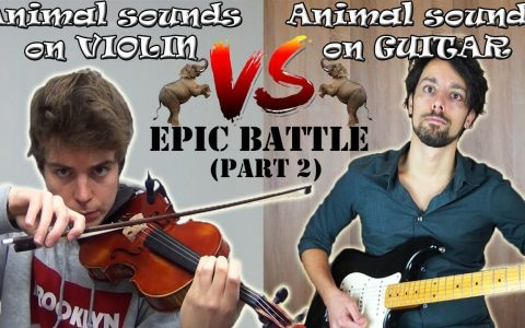 Violín vs Guitarra eléctrica: Imitando sonidos de animales