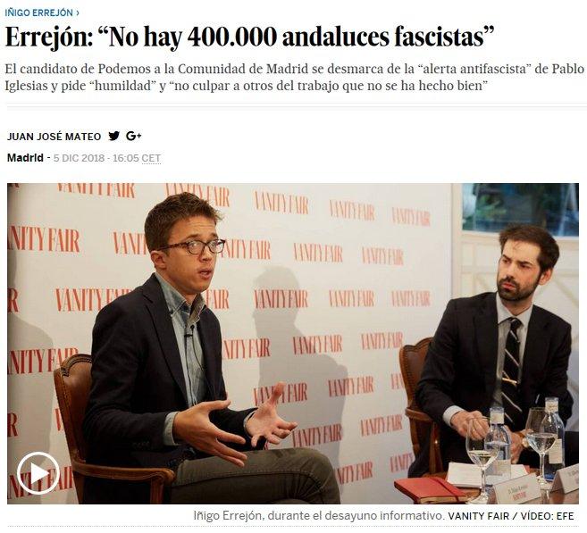 """Errejón se desmarca de la """"alerta antifascista"""" de Pablemos"""