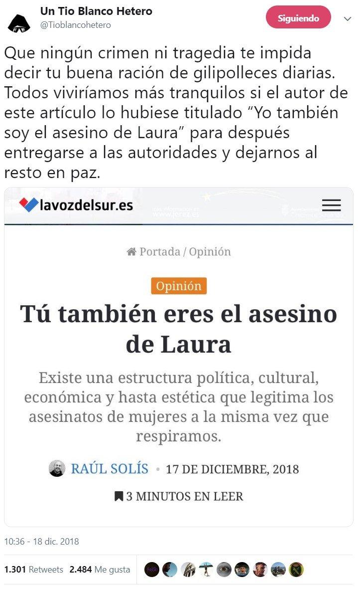 """""""Tú también eres el asesino de Laura"""""""