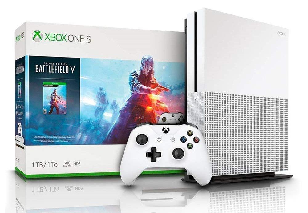Microsoft Xbox One S - Consola 1 TB + Battlefield V por solo 189€