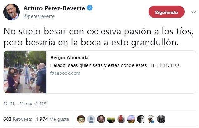 Vaya, parece que tengo posibilidades con Pérez-Reverte...