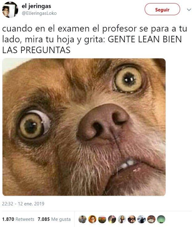 Pánico en el examen