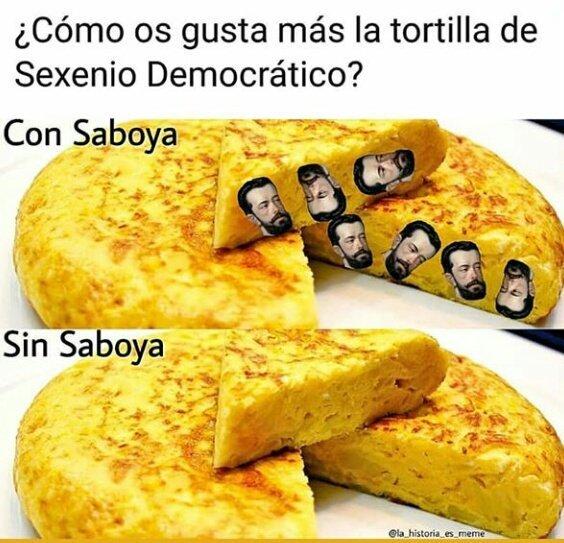 Con Saboya, siempre