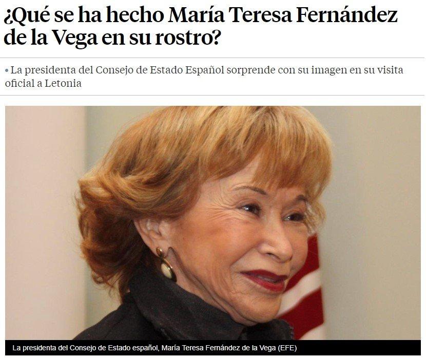 Parece que un alienígena está usando el cuerpo de María Teresa Fernández de la Vega