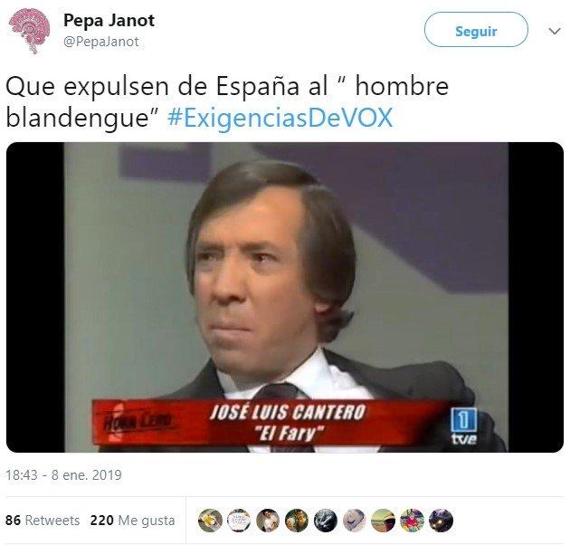 #ExigenciasDeVOX