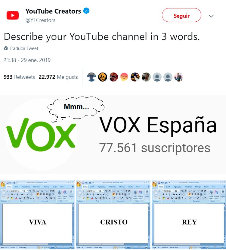 """Describe tu canal de Youtube en 3 palabras"""