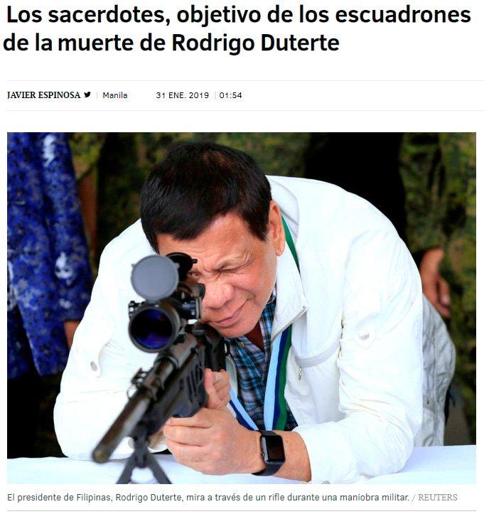 El presidente de filipinas sigue con su política de gobierno sosegada