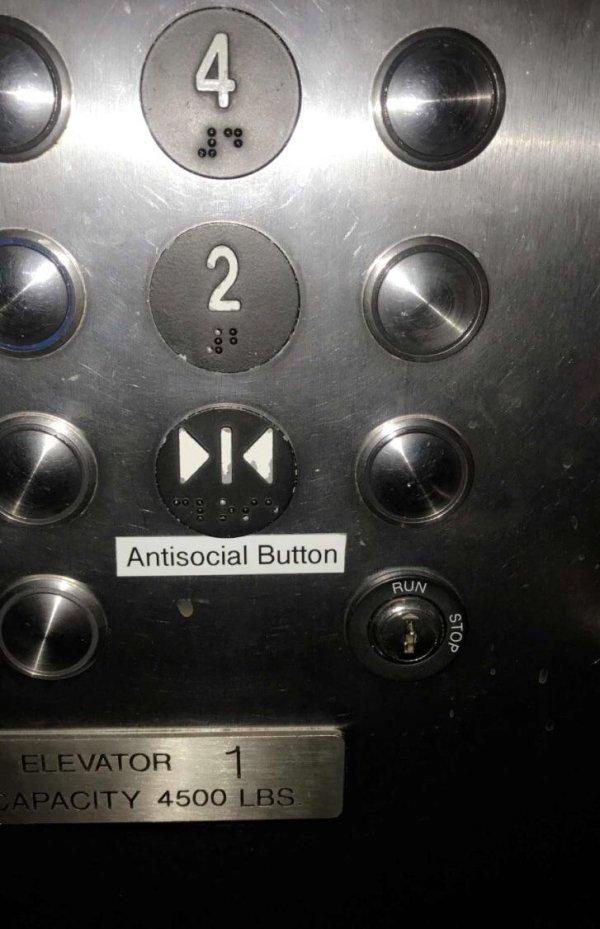 El botón antisocial