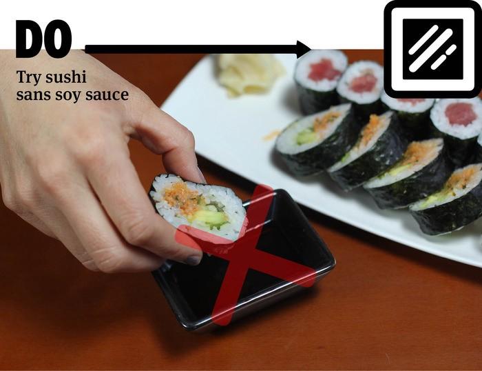 Los DO y los DON'T a la hora de comer sushi