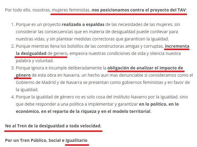 Y así es como se utiliza el feminismo en Euskal Herria para defender ideas que fracasaron con otro tipo de victimismos