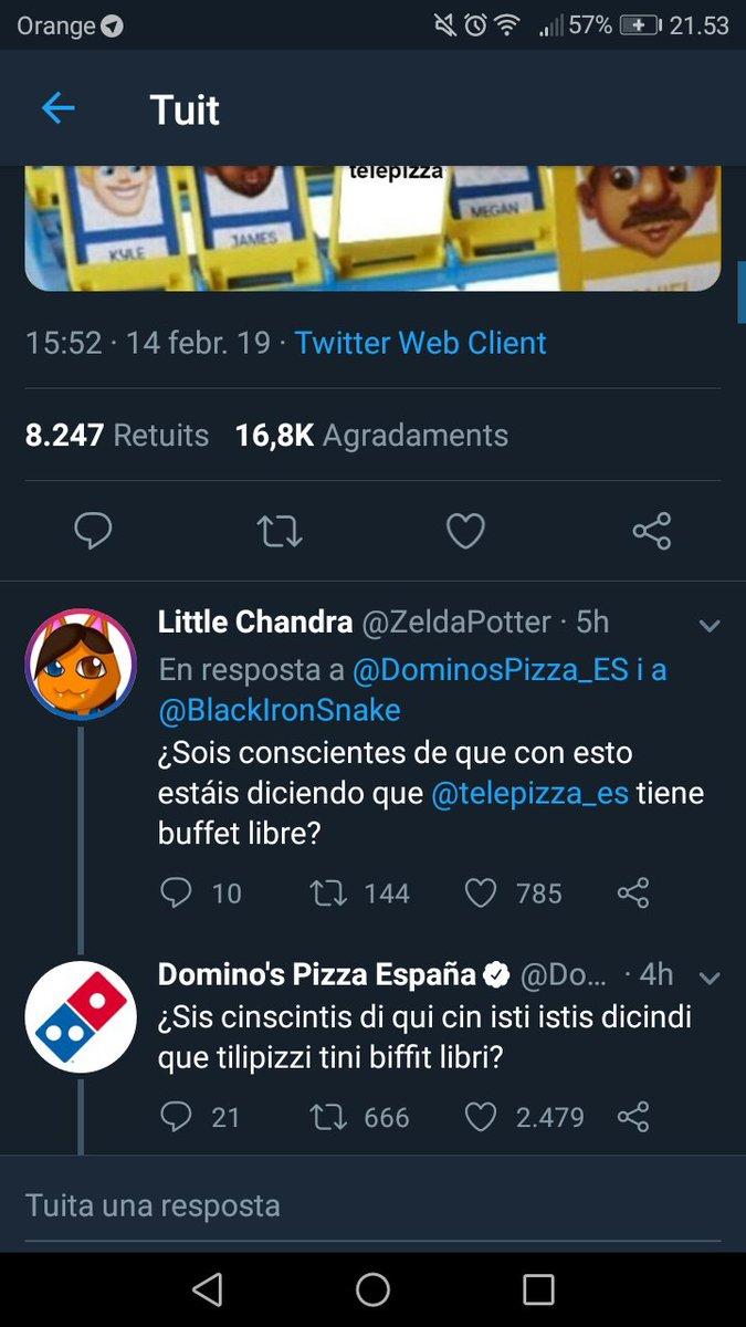 Mis dieses a Domino's Pizza por saber perder