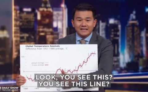 Ronny Chieng explicándole a Donald Trump el calentamiento global