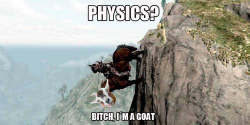 Las cabras se cargan todas las fórmulas del Newton ese