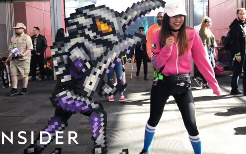 Epic Cosplay de Metroid pixelado