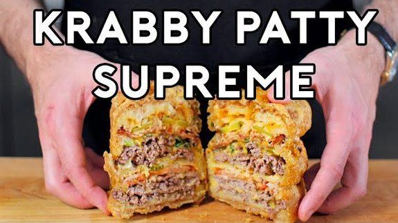 Haciendo realidad la Krabby Supreme de Bob Esponja: ¿Hay hambre?