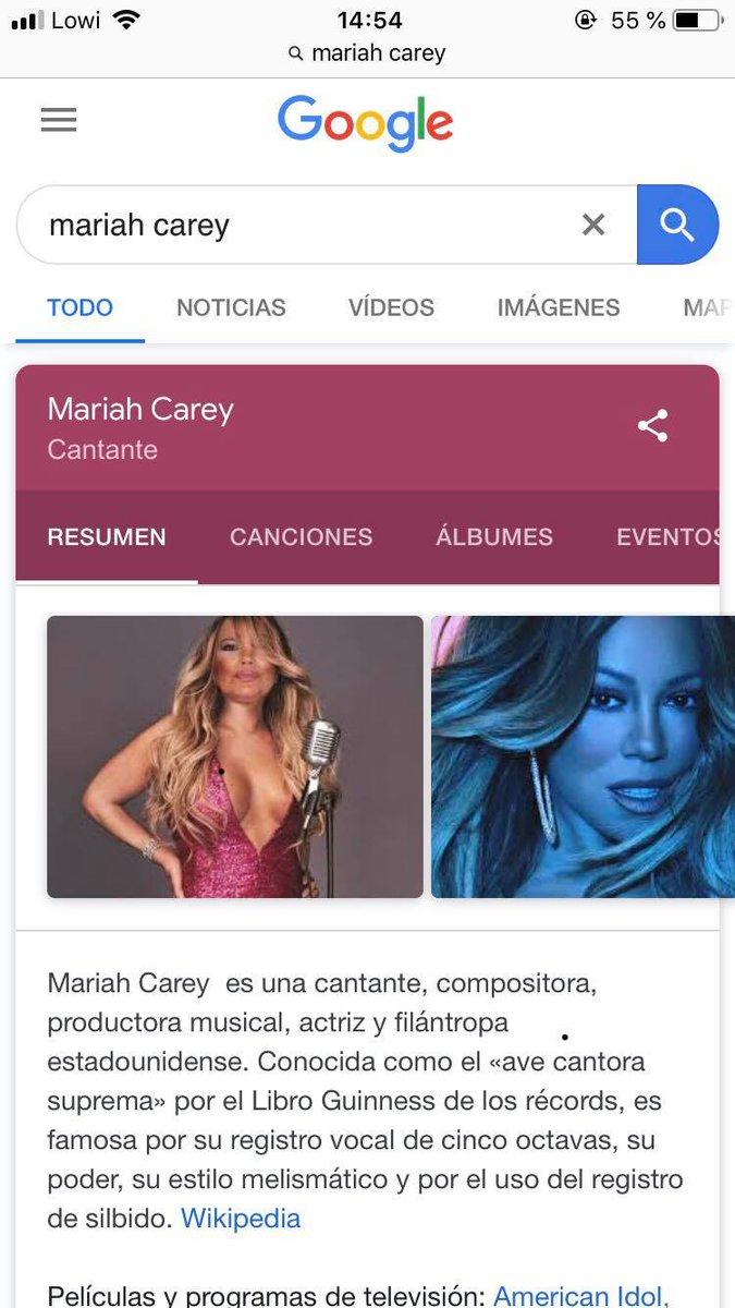 Si buscas Mariah Carey en Google, la primera imagen oficial que te sale es un montaje con la cara de Terelu. Vivimos en el mejor siglo, en serio.