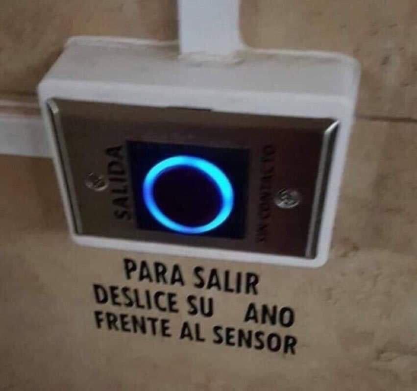 Yo pensaba que el sensor ocular era para otro tipo de ojos...