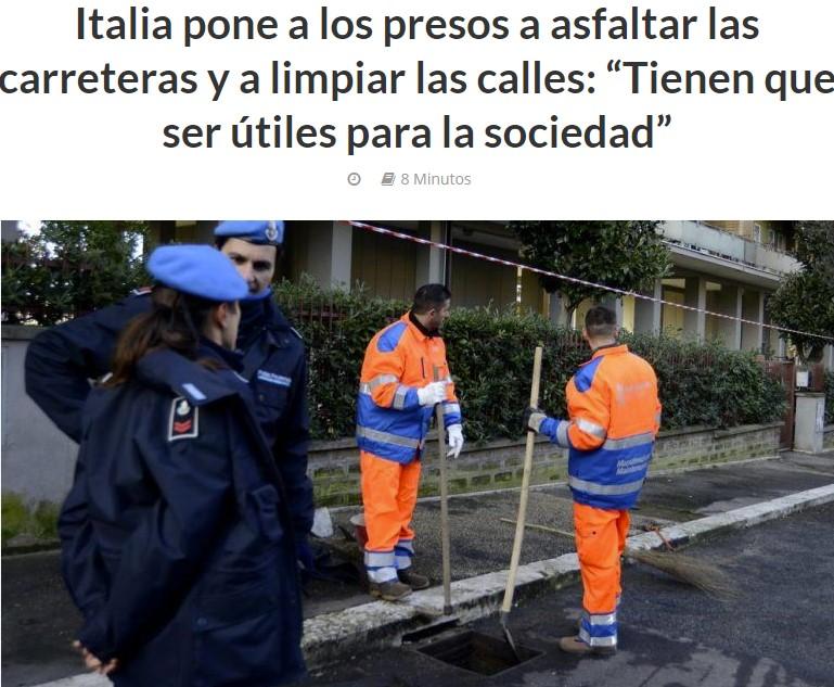 Italia dándonos lecciones de cómo aprovechar recursos infrautilizados (reciclaje humano), y los indios enseñándonos cómo acabar con la competencia desleal del que sopla y sorbe a la vez