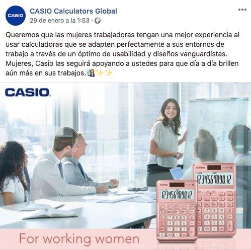 Casio piensa en las mujeres