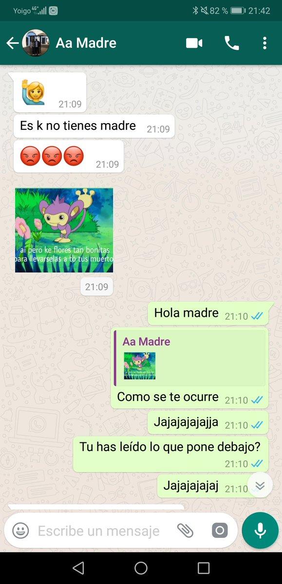 Madre descubre los sticker de Whatsapp. *Spoiler: Sale mal.