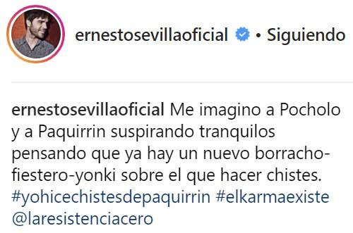 El karma le vuelve a Ernesto Sevilla
