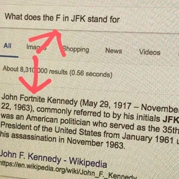 La F fue añadida después para mostrar respeto