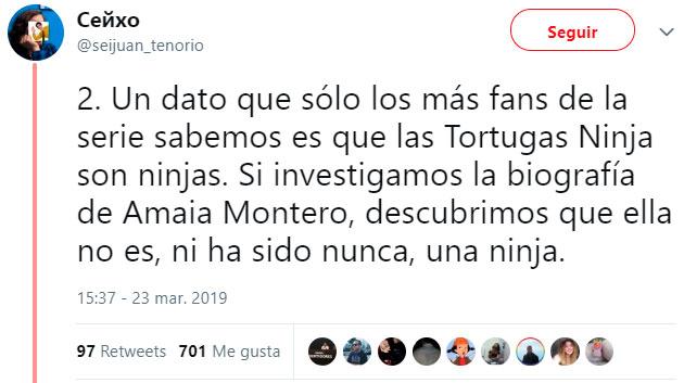 Confirmado: Amaia Montero es la peor Tortuga Ninja que existe