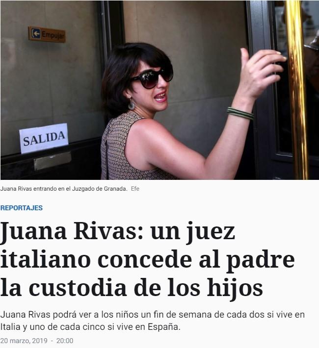 Continúan las malas noticias para Juana Rivas