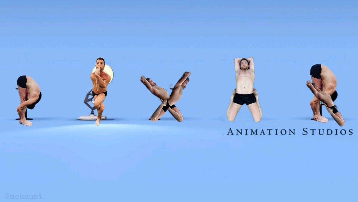 Pixar con fotos de Pablo Motos haciendo yoga
