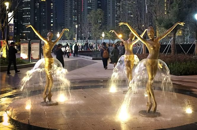 Las bailarinas de Pillnitz, Suzhou (China)