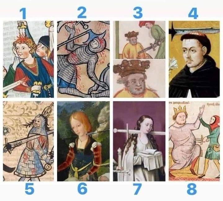 ¿Qué persona medieval indiferente mientras la apuñalan eres hoy?