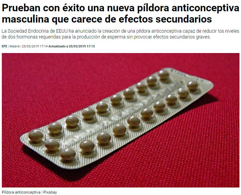 Llega la píldora anticonceptiva para hombres