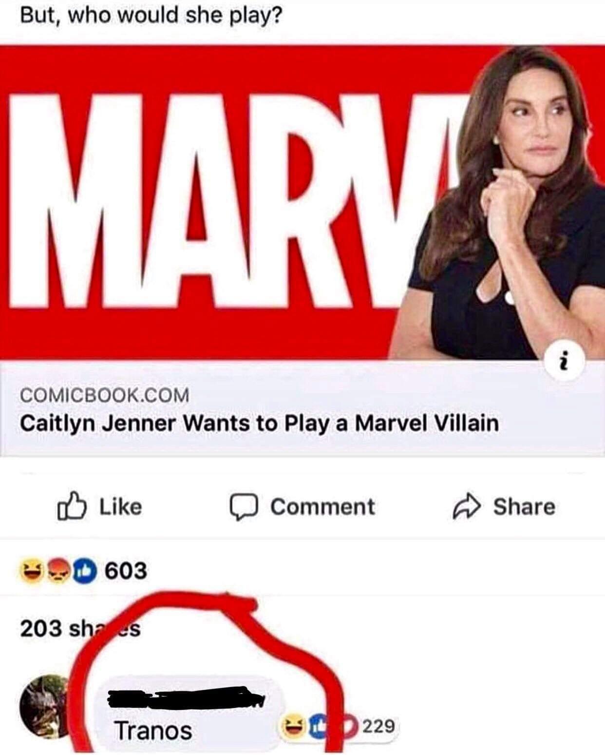 Caitlyn Jenner quiere interpretar a un villano de Marvel