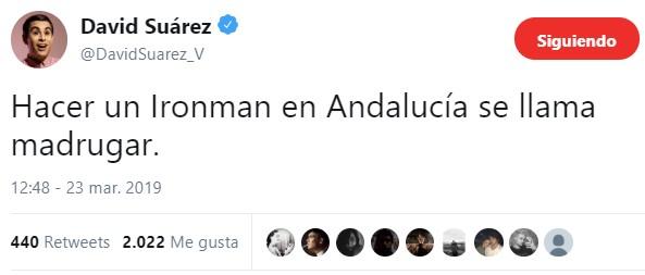David Suárez haciendo amigos en tuister
