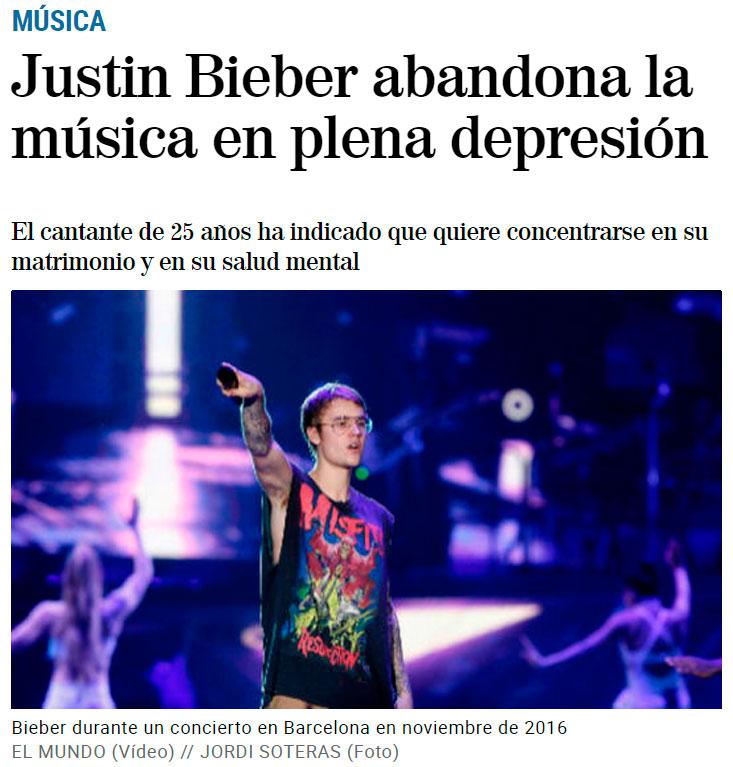 Justin Bieber deja la música