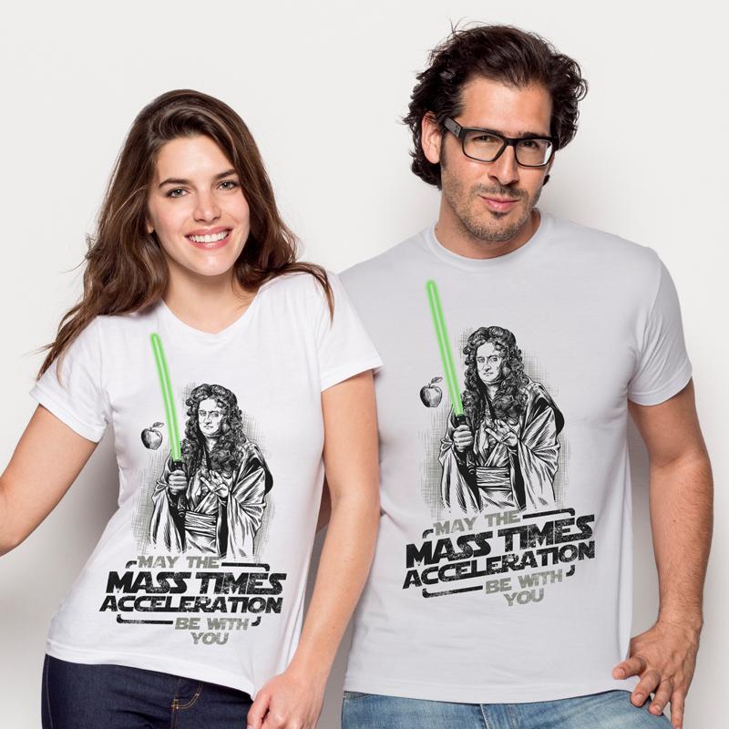 """Camisetas """"Que la masa por la aceleración te acompañe"""" y """"METAFISICA"""""""