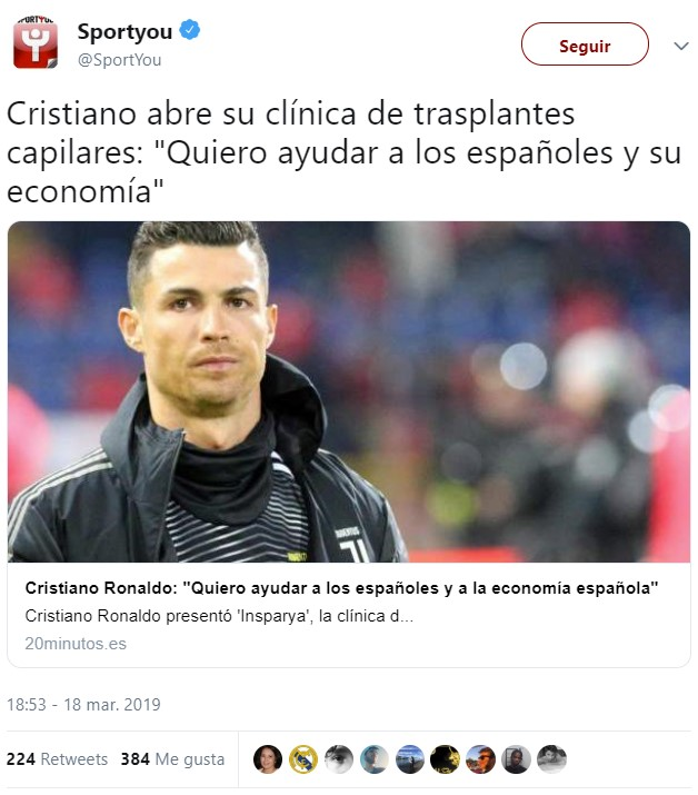 Creo que Cristiano Ronaldo nos está tomando el pelo...